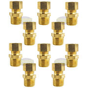 10 Pack 1/2 X 1/2 Male Npt Connector Brass Compression Fitting For 1/2 Od Tube