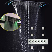Thermostatic Shower System Concealed 4 Functions Electric Led Shower Faucets Set