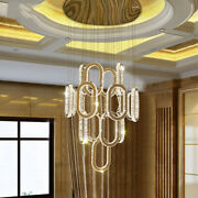 Dimmebla Led Crystal Light Living Room Chandelier Luxury Stairwell Ceiling Lamps