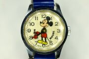 Mickey Mouse Womens Watch W/leather Band Walt Disney ✬✬ Rare Vintage Swiss Made