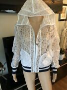 New S/s 2018 Runway Sheer Embroidered Jacket Coat Fr 38