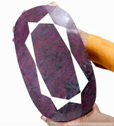Biggest 9.7 Kilo Natural Red Ruby Oval Cut Earth Mined Collectorsand039 Rare Gemstone