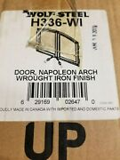 Napoleon Fireplace Arch Doors Wrought Iron Wolf Steel H336-wi New