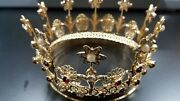 Reale Brass And Jewel Crown For Religious Statues Demetz Studio Italy