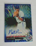 2017 Bowman Chrome Draft Nate Pearson Blue Wave Refractor Fy Rc Auto 97/150