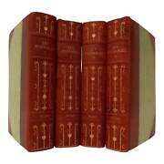 Late 19th Century Leather Volume Set Victor Hugoand039s Les Miserables - 4 Books