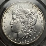 1892 Morgan Dollar, Choice Uncirculated Pcgs Ms-63, Scarce Better Date Coin