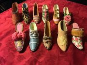 Vintage Lot Just The Right Shoe By Raine Willitts Miniature Shoe Collection