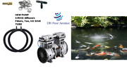 New Small To Large Pond Aerator Kit W/ 2-48 Diffusers 1/2hp Pump 1/3+acre 3+cfm