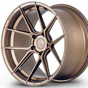4 20 Staggered Ferrada Fr8 20x10 20x12 Bronze Concave Wheels Rims B1