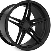 4 20 Staggered Rohana Rfx15 20x9 20x11 Black Concave Wheels Forged Rims A1