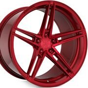 4 20 Staggered Rohana Rfx15 20x9 20x12 Red Concave Wheels Forged A1