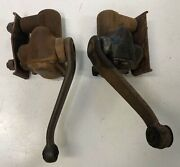 1931 Plymouth Delco Love Joy Front Shocks W/ Mounting Plates And Bolts 1 Working
