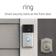 Ring Video Doorbell With Hd, Motion Activated Alerts, Easy Installation - Satin