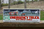 Hess 2005 Emergency Fire Truck With Rescue Vehicle Plus Original Box