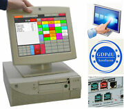 Register System Pos-kasse Ncr Realpos 80c Touch Screen Tft 800x600 Catering Ncr3
