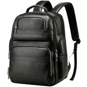 Men Genuine Leather Backpack 15 Laptop Bag Large Hiking Travel Camping Carry On