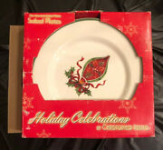 Holiday Celebrations By Christopher Radko Four Assorted Salad Plates Nib