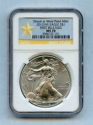 2012w Ngc Ms70 Silver Eagle West Point First Releases Blue