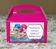 12 Shimmer And Shine Candy Bags Shimmer Favor Boxes