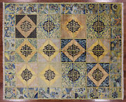 6' 7 X 7' 10 William Morris Hand Knotted Wool Area Rug - Q1819
