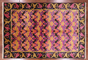 William Morris Hand Knotted Wool Area Rug 6and039 1 X 8and039 10- Q1839