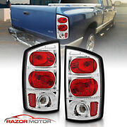 2002-2006 Dodge Ram 1500/2500/3500 Truck Red Clear Brake Tail Lights