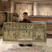Yilong 4.4'x2' Vintage Egypt Tapestry Area Rug Old Handcraft Silk Carpets L115a