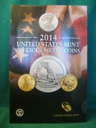 2014 United States Mint Precious Metal Coins Brochure-2 Pages-no Coins