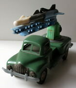 Vintage Rare 50's Russian/ussr Tin+plastic Military Truck Rocket Friction  934