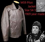 54-5 Soviet Pilot Gagarin Air Force Bomber Leather Jacket