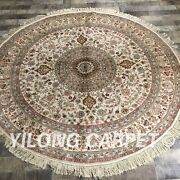 Yilong 6and039x6and039 Round Classic Silk Rug Circle Classic Hand Knotted Silk Carpet 043m