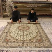 Clearance Yilong 6and039x9and039 Medium Woolen Carpet Hand Knotted Wool Shaggy Rug 1403