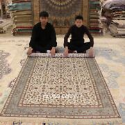 Yilong 5and039x8and039 Bedroom Hand Knotted Silk Carpets All Over Pattern Area Rugs Y311ab