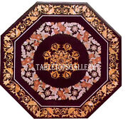 36 Marble Dining Dinner Table Top Pietra Dura Mosaic Inlay Home Decorative H484