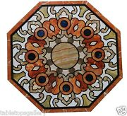 36 White Marble Dining Corner Table Top Mosaic Inlay Hallway Art Decorate H1512