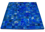 36 Marble Dining Table Top Lapis Lazuli Mosaic Inlay Home Decor Gifts H2027a