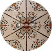 42and039and039 Dining Marble Restaurant Table Top Inlay Marquetry Outdoor Home Deco H3999c