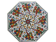 42 Marble Dining Side Table Top Marquetry Floral Mosaic Inlay Home Decor H450