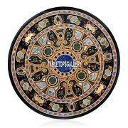 48and039and039 Marble Corner Dining Table Top Multi Precious Inlay Restaurant Decor H3941