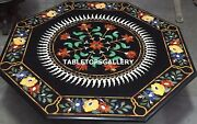 52 Marble Dining Table Top Marquetry Floral Inlay Work Garden Decor Gift H4337b