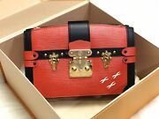 Nwot 3300 Louis Vuitton Red Epi Trunk Clutch