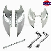 Chrome Heel Shift Lever Front Rear Floorboard Linkage Fit For Electra Glide Cvo
