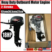 2 Stroke 18hp Outboard Motor Water Cooling Inflatable Fishing Boat Hangkai Usa