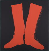 Jim Dine - Two Red Boots 1968 Original Screen Print In Colors