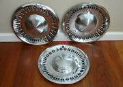 1961 Plymouth 14andrdquo Hubcap Wheel Cover Hub Cap Oem Fury Belvedere And03961 Set Of 3