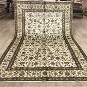 Yilong 6and039x9and039 All Over Design Handmade Silk Carpet Cleaning Hand Woven Rugs 206b