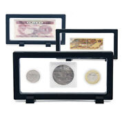 Clear Coin Display Box Medal Jewelry Holder Organizer Frame Money Protector Case