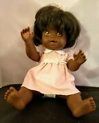 Vintage 1999 Mattel Black Baby Female Doll In Clothing - Made In China