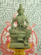 Antique Lord Indra King Of The Devas God Diety Hinduism Buddhist Statue Amulet